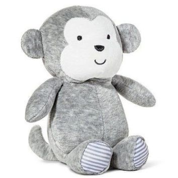 NWT Carters Precious Firsts Gray Grey Monkey Plush Stuffed Rattle Toy 66839