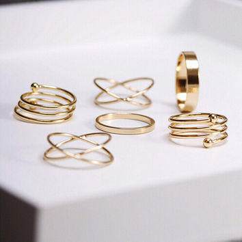 Gold Boho Rings (6 Piece Set)