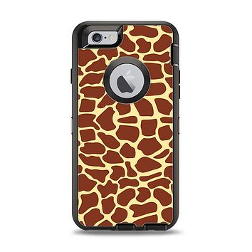 The Simple Vector Giraffe Print Apple iPhone 6 Otterbox Defender Case Skin Set