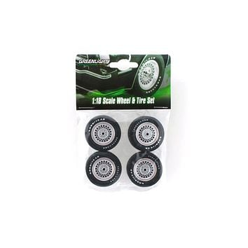 Ford Mustang II King Cobra Wheels&Tires Set for 1:18 Scale Models