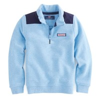 Boys Heather Whale Line Shep Shirt