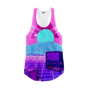Vaporwave TV Racerback Tank Top