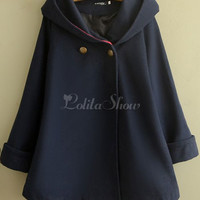 [$31.99] Buttons Hooded Lolita Jackets