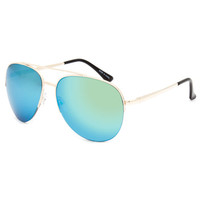 Blue Crown Brian Aviator Sunglasses Gold One Size For Men 26028962101