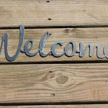 Welcome Sign, Metal Farmhouse Sign, Metal Letters, Welcome Sign, Shabby Chic, Metal Art, Metal Letters, Word Art, Word Signs, Metal Words