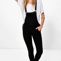 Suzanne Black Denim Dungarees