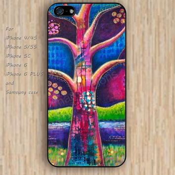 iPhone 5s 6 case watercolor tree life tree dream catcher colorful phone case iphone case,ipod case,samsung galaxy case available plastic rubber case waterproof B609