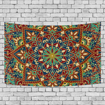 Vintage Hippy Mandala Bohemian Tapestry Indian Dorm Decor Psychedelic Wall Hanging Ethnic Wall Decor Art