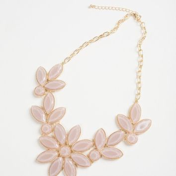 Leia Oversized Mauve Statement Necklace