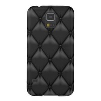 Faux Retro Black Leather Samsung Galaxy S5 Cases