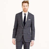 Ludlow Suit Jacket In Dotted Windowpane Italian Cotton