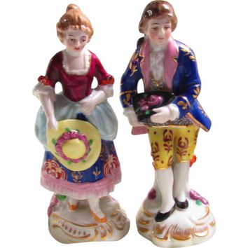 Antique French Samson Couple Figurines Chelsea Style