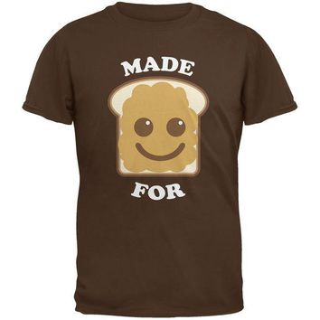 ESBGQ9 Couples Peanut Butter Sandwich Brown Adult T-Shirt