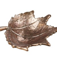 Golden Leaf Tray Metal