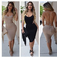 SEXY BACKLESS DRESS