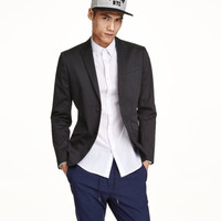 Satin Blazer Skinny fit - from H&M