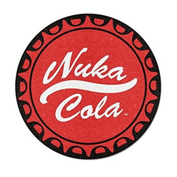 "Fallout OFFICIAL Nuka Cola Bottle Cap 48"" Round Fleece Throw Blanket, Red"