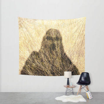 Surreal Wall Tapestry, Scifi Tapestry, The Willows, Algernon Blackwood, Grass Texture, Bigfoot, Horror Decor, Scary Wall Art