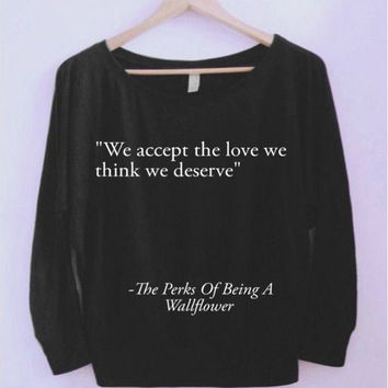 The Perks Of Being A Wallflower Wide-neck Shirt - Small