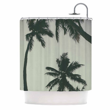"Mary Carol Fitzgerald ""Rise Of Palms"" Purple Photography Shower Curtain"