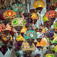 Turkish mosaic lamps fine art print