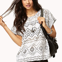 Burnout Tribal Print Top