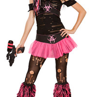 Miss Cyanide Costume, Neon Costume, Biohazard Costume, Nuclear Waste Costume