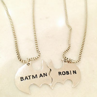 Batman and Robin Friendship Necklace Set