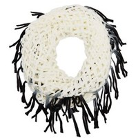 Combo Open Knit Ombre Fringe Infinity Scarf by Charlotte Russe
