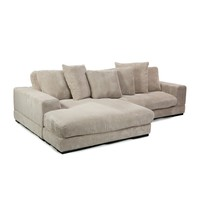Plunge Sectional Sofa Cappuccino