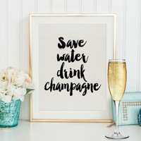 BUT FIRST CHAMPAGNE,Inspirational Print,Celebrate Quote,Gift For Birthday,Champagne Sign,Funny Poster,Wedding,Anniversary,Party Print,Quote