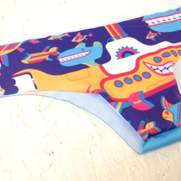 The Beatles Yellow Submarine Bikini Bottom Low-Rise Panties Spring Collection
