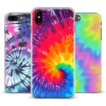 Tie dye Hippie Art Hipster Coque Phone Case Cover Shell For Apple iPhone X 8Plus 8 7Plus 7 6sPlus 6s 6Plus 6 5 5S SE 4s 4