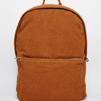 ASOS | ASOS Backpack In Faux Suede at ASOS