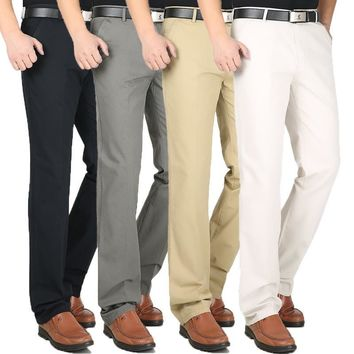 Men's Business Casual High Quality Straight Leg Pants