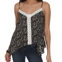 Crochet Trim Floral Tank | Shop Tops at Wet Seal