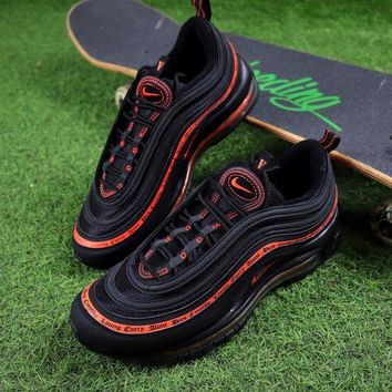 DCCKGV7 Best Online Sale Vlone x  Nike Air Max 97 OG QS Black Orange Sport Running Shoes  884421-001