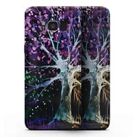 Inverted Abstract Colorful WaterColor Vivid Tree - Samsung Galaxy S8 Full-Body Skin Kit