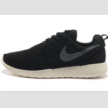 NIKE roshe Trending Fashion Casual Sports A Simple yet Powerful Style Nike Shoes Black (grey hook white soles)