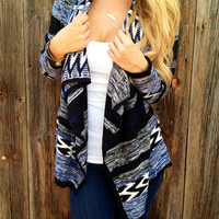Ikat Long Sleeve Cardigan