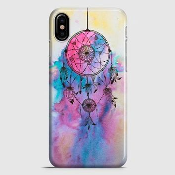 Hipster Dreamcatcher Watercolor Painting iPhone X Case
