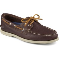Men's Authentic Original Tumbled 2-Eye Boat Shoe in Brown by Sperry