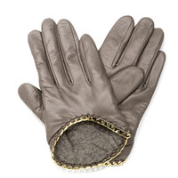 Nappa Leather Chain Gloves