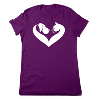 Cat and Dog Heart, Cat T Shirt, Veterinarian T Shirt, Animal Rescue TShirt, Dog T Shirt, Dog Lover, Veterinary, Pet, Ladies Women Plus Size