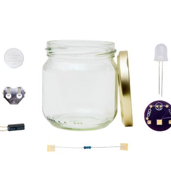 Learn to Solder Kit: Firefly Jar Yellow