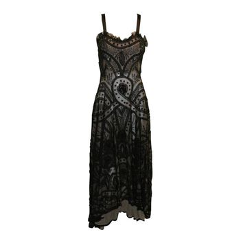 Alexander McQueen Sarabande Museum Beaded Tulle Gown Dress 38, S/S 2007