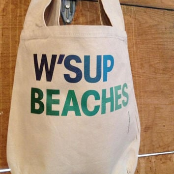 NEW - W'sup Beaches - Sling Sack Tote - Free Shipping