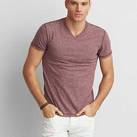 AEO Burnout V-Neck T-Shirt, Wineberry