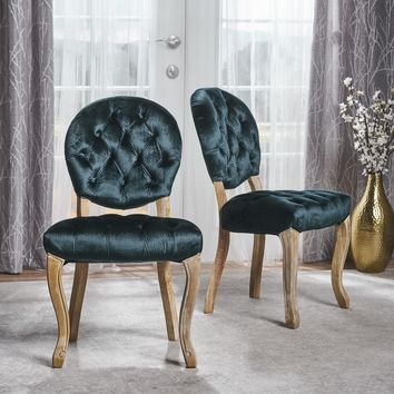 Benjamin Tufted New Velvet Dining Chairs (Set of 2)