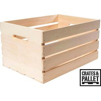 Crates and Pallet Large Wood Crate - Walmart.com
